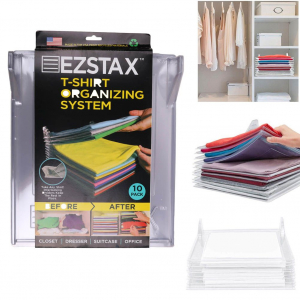 Organizator de tricouri cu 10 planse Ezstax T-shirt Organiser [2]