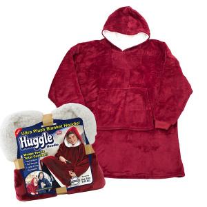 Patura cu maneci stil hanorac si gluga Huggle Hoodie2