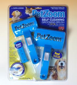 Perie dubla profesionala pentru animale PET ZOOM0