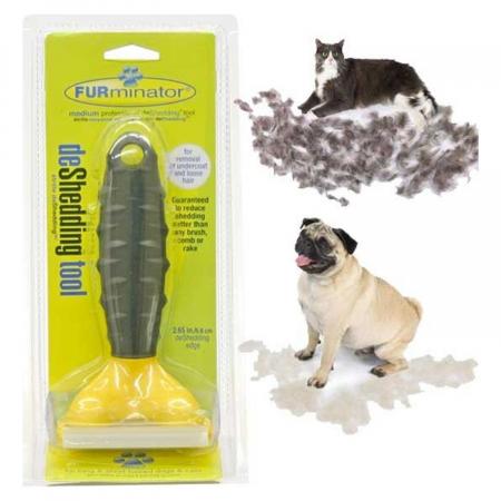 Perie profesionala de curatat par de animale, FURminator medium [1]