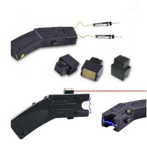 Pistol taser cu electrosoc si 3 rezerve cartuse1