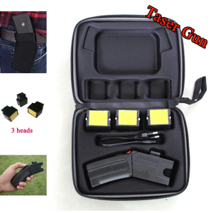 Pistol taser cu electrosoc si 3 rezerve cartuse0