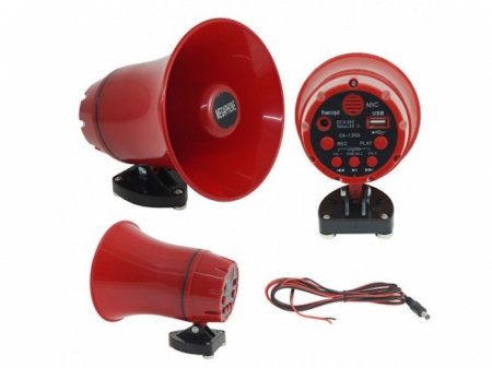Portavoce megafon auto cu inregistrare si citire stick USB, CA-130U [1]
