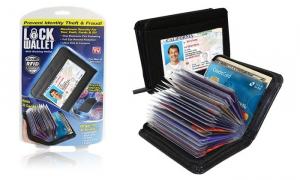Portofel anti scanare carduri Lock Wallet, 36 carduri0