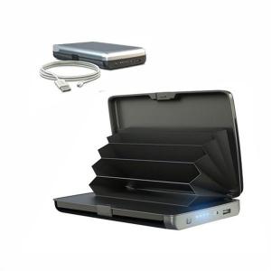 Portofel securizat cu baterie externa 2 in 1 E-Charge Wallet1