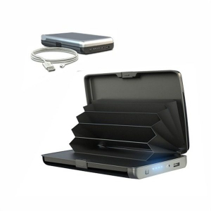 Portofel securizat cu baterie externa 2 in 1 E-Charge Wallet0