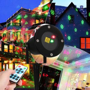 Proiector Laser cu 6 figurine luminoase pentru Crăciun [0]