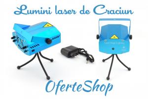 Proiector laser pentru craciun 6 figurine luminoase 0