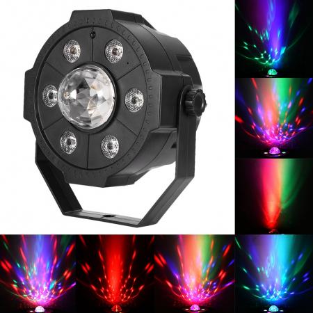 Proiector Jocuri Lumini Disco cu Telecomandă, Muzică USB și Bluetooth, 6+1 LED RGB [5]