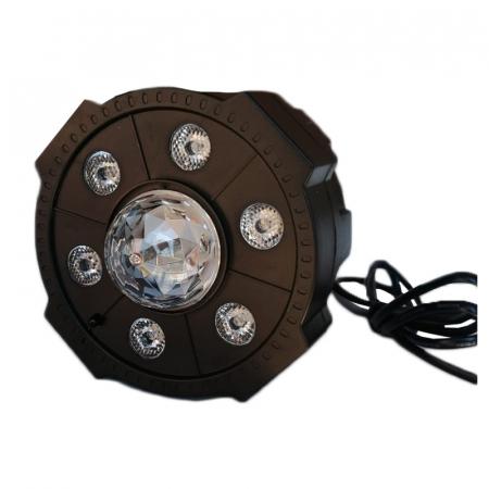 Proiector Jocuri Lumini Disco cu Telecomandă, Muzică USB și Bluetooth, 6+1 LED RGB [2]