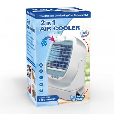 Racitor de aer 2 in 1 Air Cooler, cu vaporizator si rotatie 360 [0]