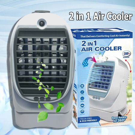 Racitor de aer 2 in 1 Air Cooler, cu vaporizator si rotatie 360 [4]