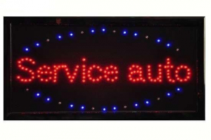 Reclama luminoasa cu leduri Service auto1
