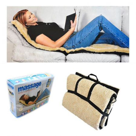 Saltea pentru masaj cu blana si incalzire,telecomanda inclusa0