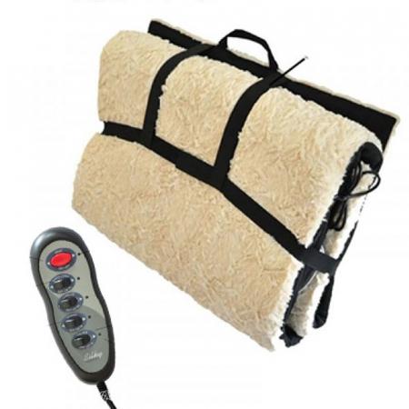 Saltea pentru masaj cu blana si incalzire,telecomanda inclusa1