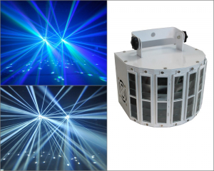 Scanner proiector efecte lumini disco LED Derby Light0