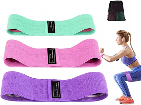 Set 3 benzi elastice cu 3 nivele de rezistenta pentru exercitii de fitness [2]