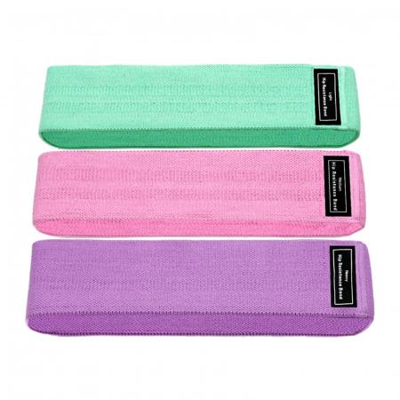 Set 3 benzi elastice cu 3 nivele de rezistenta pentru exercitii de fitness [0]