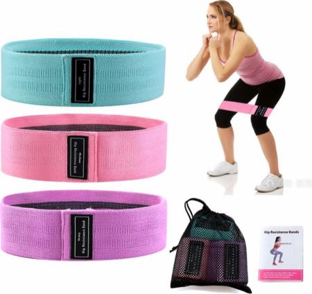 Set 3 benzi elastice cu 3 nivele de rezistenta pentru exercitii de fitness [5]