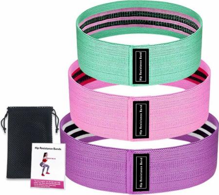 Set 3 benzi elastice cu 3 nivele de rezistenta pentru exercitii de fitness [4]