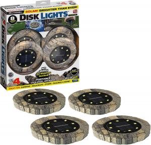 Set 4 lampi solare cu aspect de piatra si 8 LED-uri,inclus senzor de lumina1