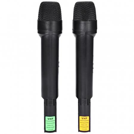 Set 2 microfoane profesionale wireless cu receiver, VHF Weisre WM-03V5