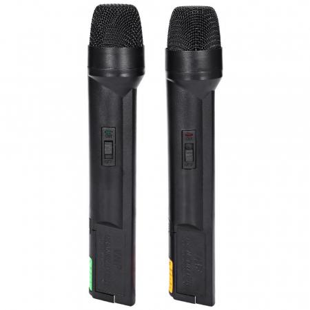 Set 2 microfoane profesionale wireless cu receiver, VHF Weisre WM-03V3
