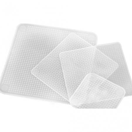 Set 4 folii pentru alimente din silicon reutilizabile, Stretch and Fresh [0]
