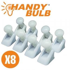 Set de 8 becuri mini Handy Bulb LED fara fir cu intrerupator0