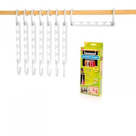 Set 8 suporturi organizatoare pentru umerase, Wonder Hanger [3]