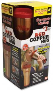 Termos pentru cafea cu Smart Grip si interior inox Red Copper [3]