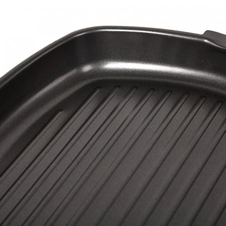 Tigaie aluminiu grill teflonat cu capac si maner detasabil, Grunberg HXG36LD [4]