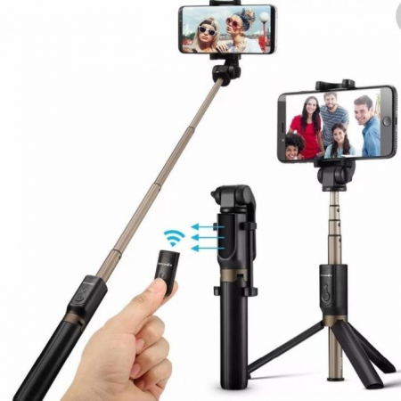 Selfie Stick cu trepied si telecomanda Bluetooth K07 [4]