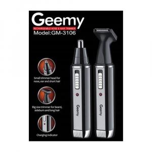 Trimmer nas si urechi 2in1 cu acumulator Geemy GM-31060