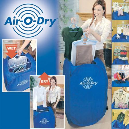Uscator de rufe electric cu aer cald, portabil si pliabil, Air O Dry [1]