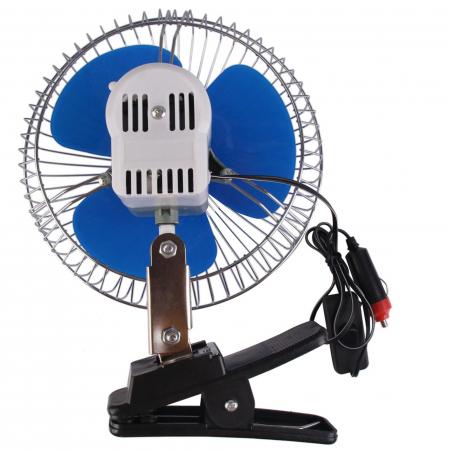 Ventilator auto 12V oscilant cu rama metalica inclusa,6 inch ( 15,24 cm )2