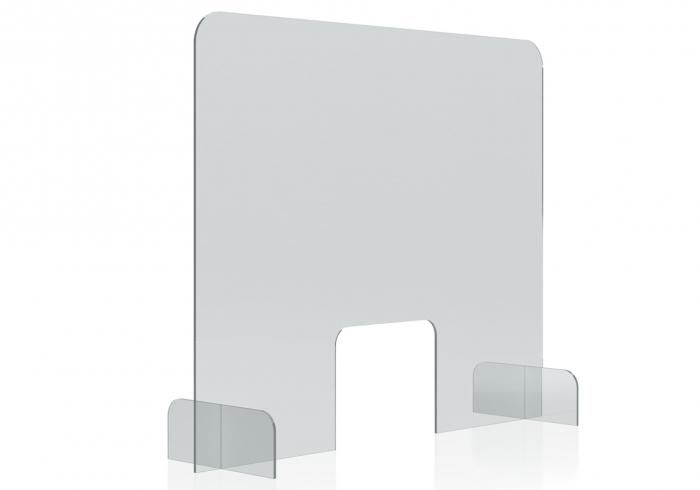 Protectie acryl pentru tejghea, birou 850*700(h) mm Magnetoplan 1