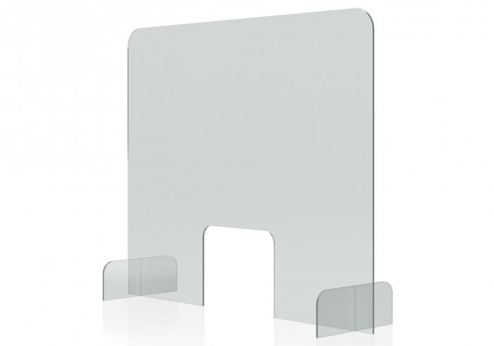 Protectie acryl pentru tejghea, birou 850*700(h) mm Magnetoplan 2