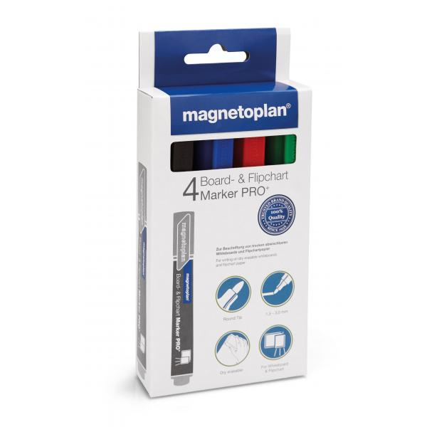 Set Marker Whiteboard 4 culori Magnetoplan 0