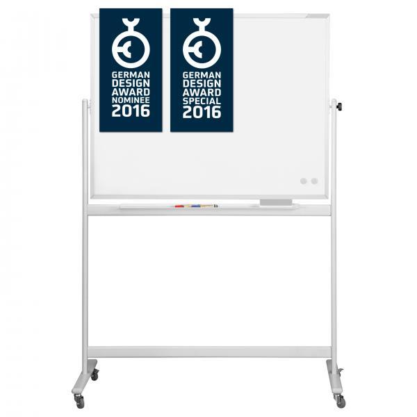 Whiteboard pe stand mobil, CC rotativ 360 gr Magnetoplan [0]