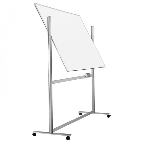 Whiteboard pe stand mobil Ferroscript rotativ 360 gr Magnetoplan (3 variane de marime) 0