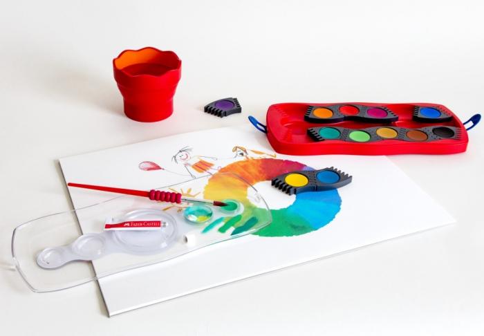 Acuarele 12 Culori Connector Faber-Castell [2]