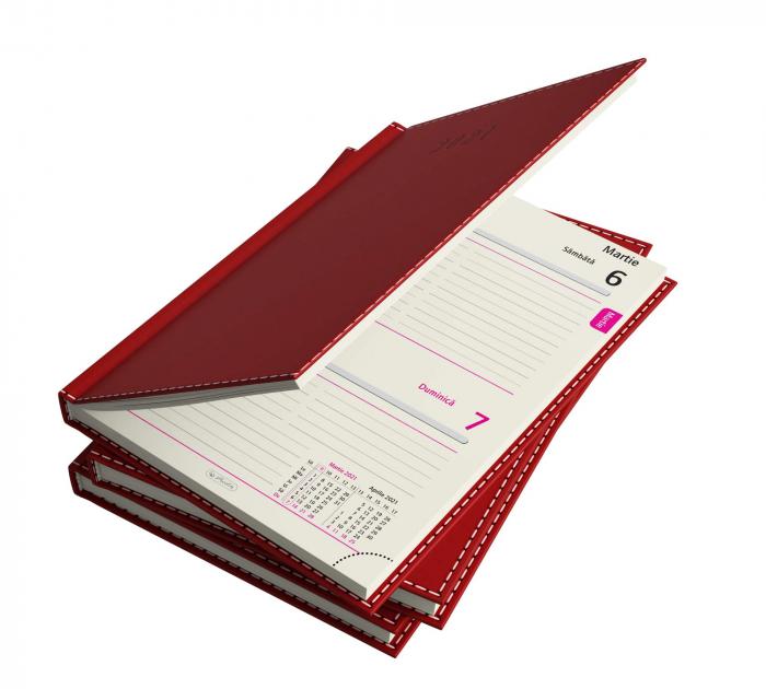Agendă datată 2021 A5 Deluxe roșie Herlitz 2