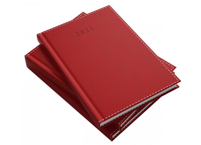 Agendă datată 2021 A5 Deluxe roșie Herlitz 0