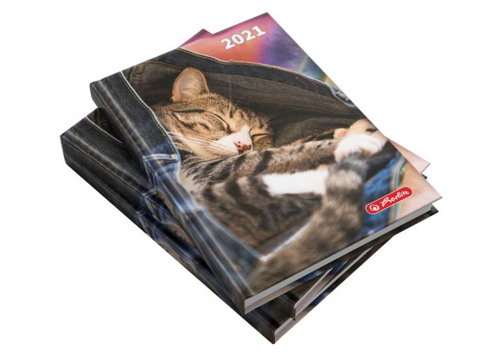 Agendă datată 2021 A5 Kitty Herlitz 0