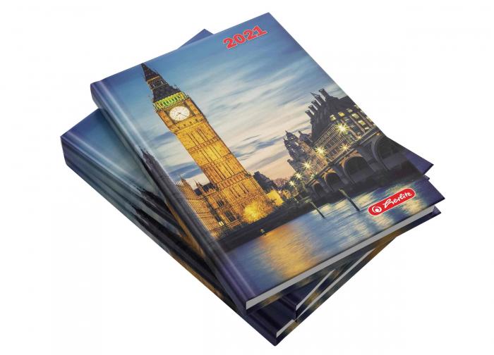 Agendă datată 2021 A5 Londra Herlitz 0