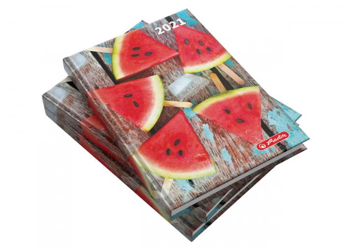 Agendă datată 2021 A5 Watermelon Herlitz 0
