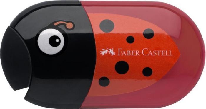 Ascutitoare Cu Radiera Buburuza Faber-Castell [0]