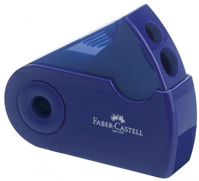 Ascutitoare Plastic Dubla Sleeve rosu/albastru Faber-Castell 0