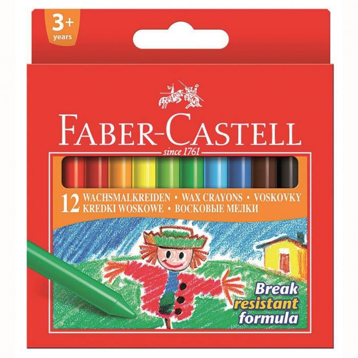 Creioane Cerate 12 Culori Faber-Castell 0